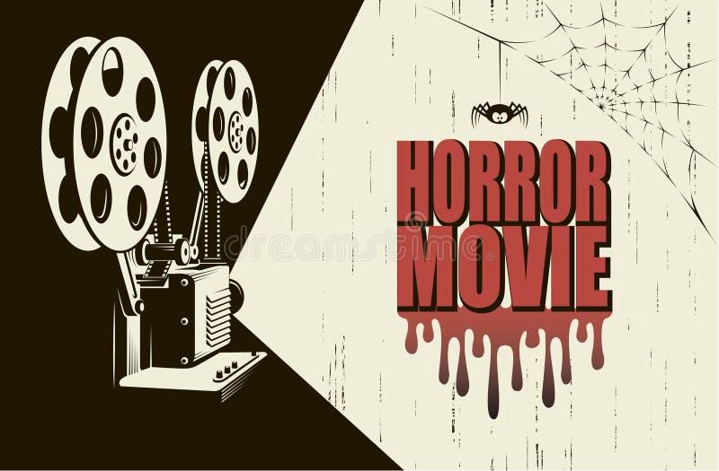 Horroru plakat ilustracji