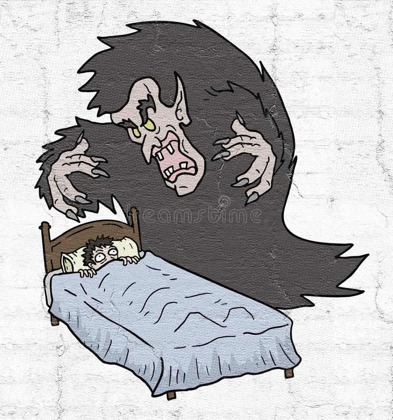 Horroru sen royalty ilustracja