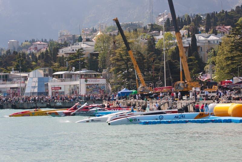 Hors-bord grand P1 2010 de Yalta Prix photographie stock libre de droits
