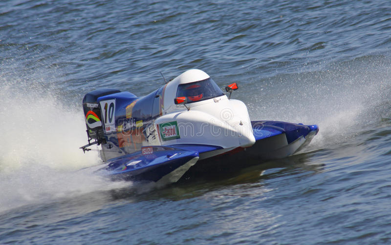 Hors-bord GrandPrix de la formule 1 H2O photos libres de droits