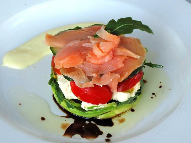 hors-d'oeuvres fumé par saumons photo stock