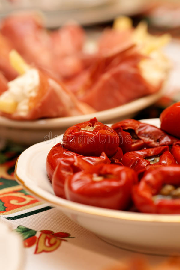 Hors-d'oeuvres italien de nourriture photo libre de droits