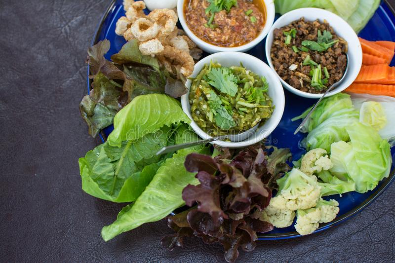 Hors d`oeuvres of Northern traditional Thai food stock photos