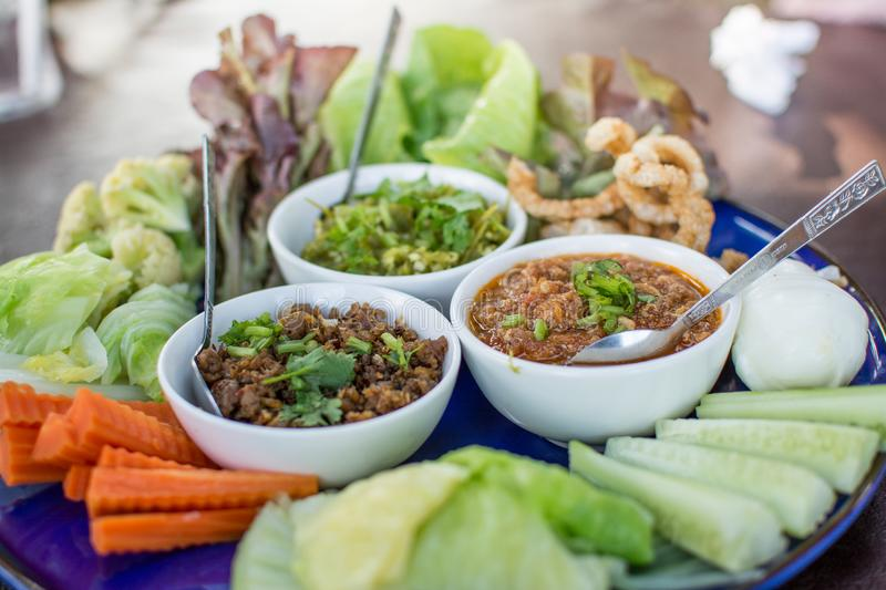 Hors d`oeuvres of Northern traditional Thai food royalty free stock images