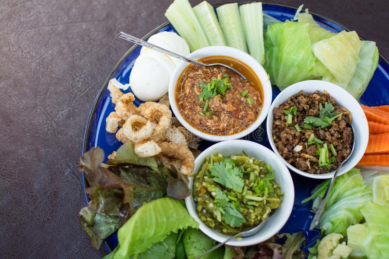 Hors d`oeuvres of Northern traditional Thai food royalty free stock photography