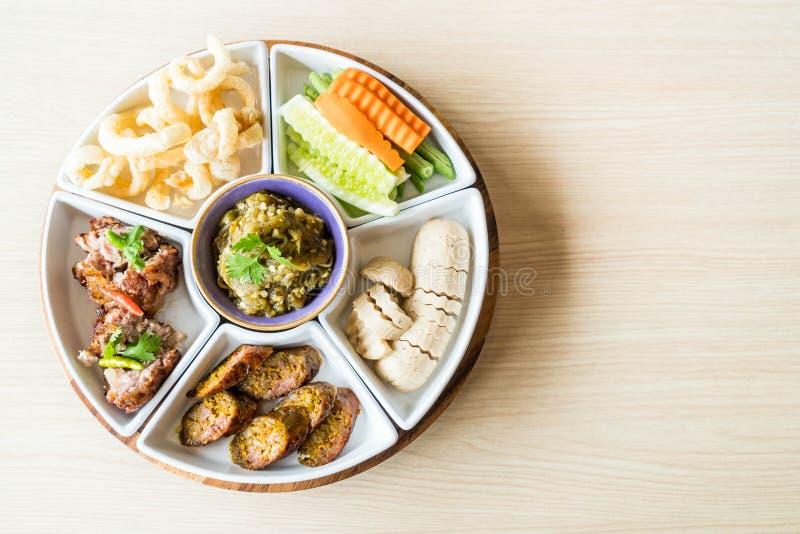 hors d \ 'opere di alimento tailandese tradizionale nordico immagine stock libera da diritti