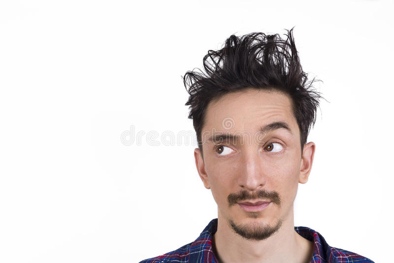 Hors des cheveux de lit photos stock
