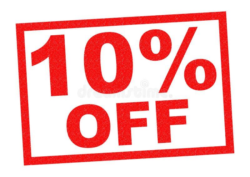 10% hors fonction illustration de vecteur