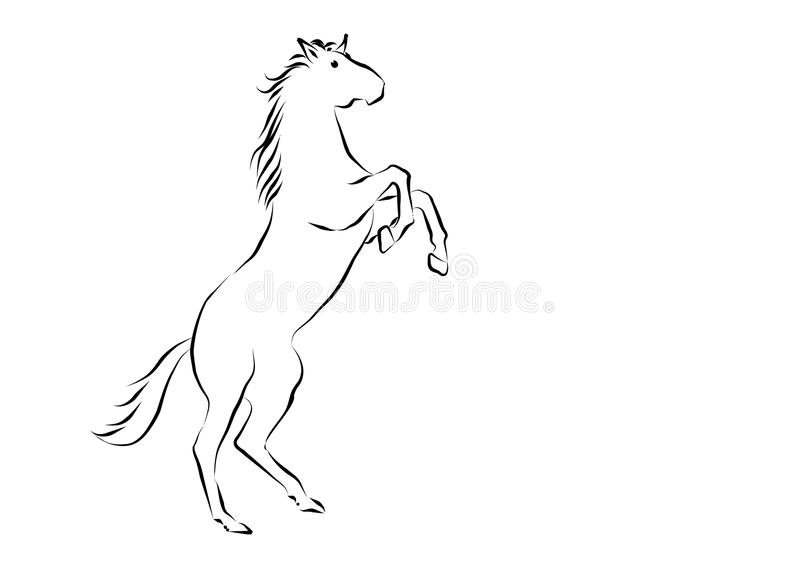 Download Horse stock vector. Image of hair, nature, power, horse - 12226066