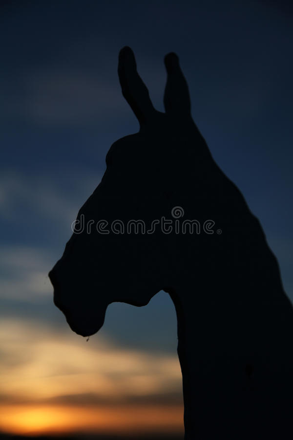 Download Horse stock photo. Image of agrarian, ears, cavalry, silhouette - 26301526