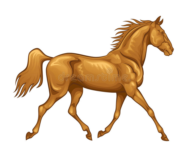 Horse royalty free illustration