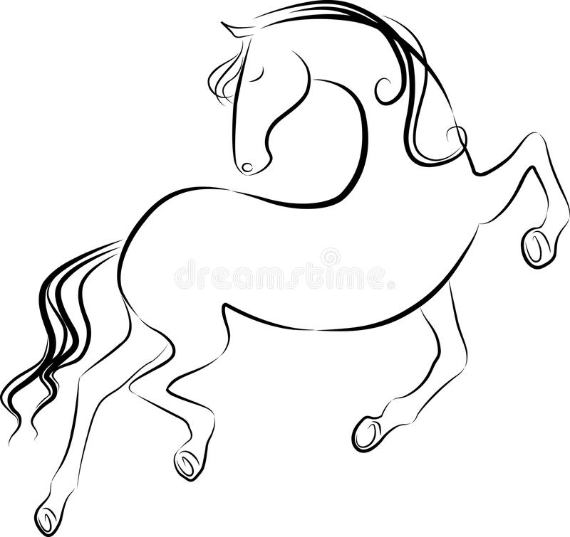 Download Horse stock vector. Image of galloping, jumping, animal - 26861134