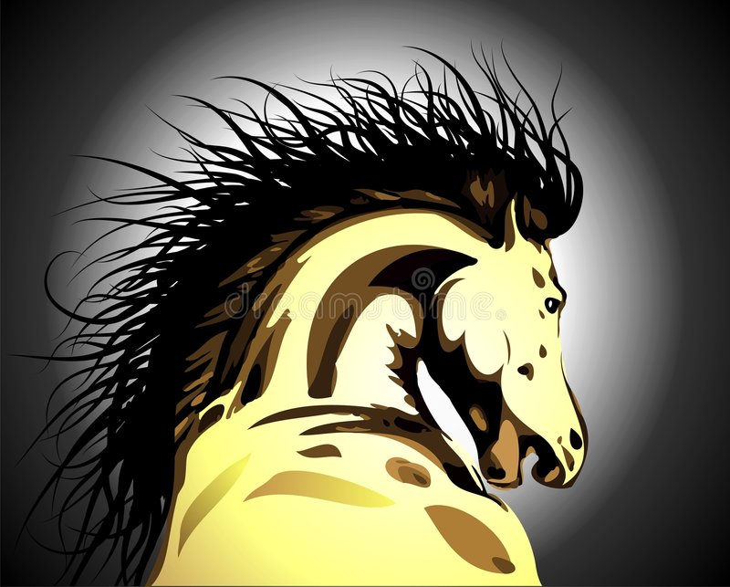Horse. Vector illustration with dynamic horse royalty free illustration