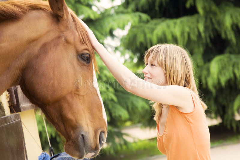 Download Horse stock image. Image of caring, affectionate, glad - 5089563