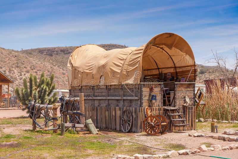 Horse barn with blue sky. Wooden horse barn with blue sky on American ranch. Nevada. USA stock photography