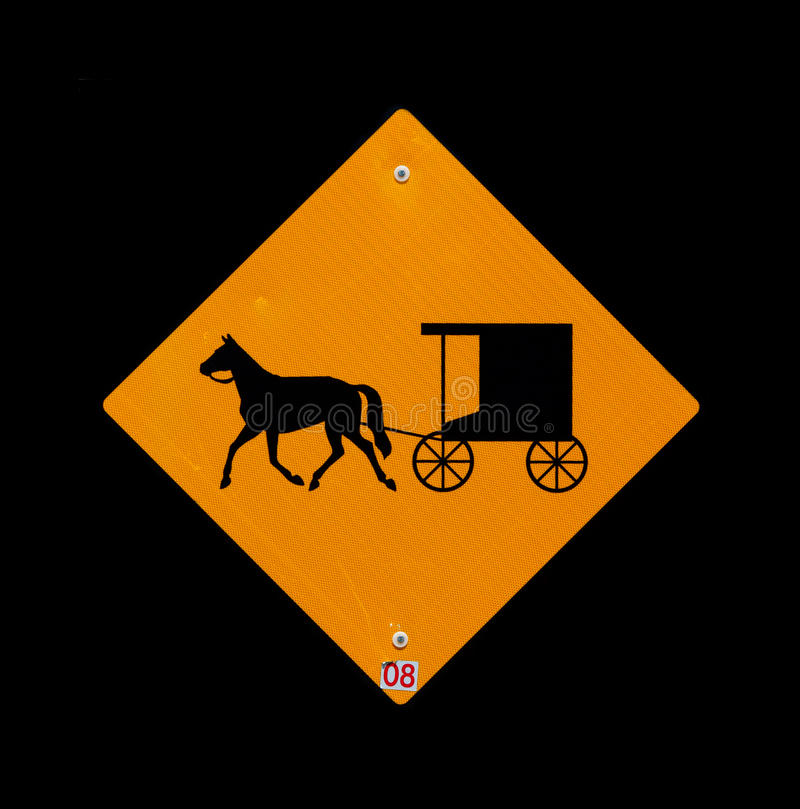 Horse and buggy sign royalty free stock photo