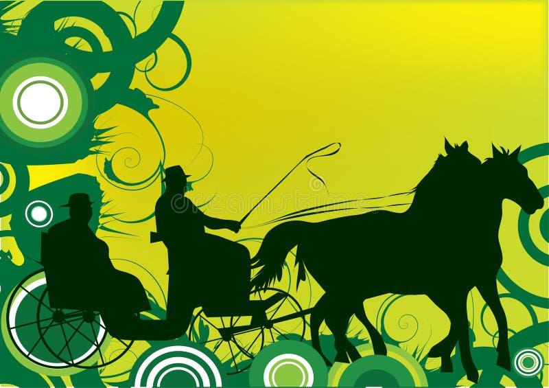 Horse cariage illustration royalty free stock image
