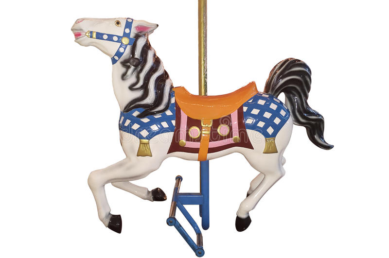 Horse carousel isolated stock images