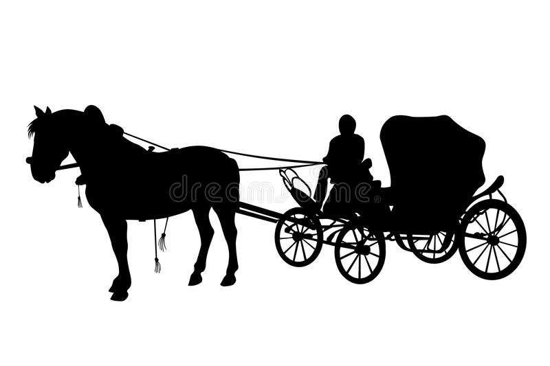 Download Horse And Carriage Black Silhouettes Royalty Free Stock Image - Image: 17053586