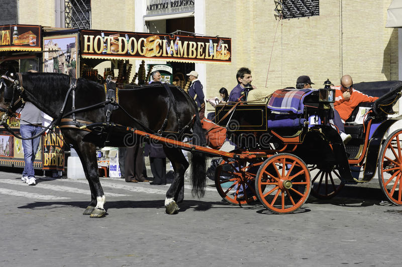 Download Horse Carriage With Driver Editorial Image - Image: 38159670