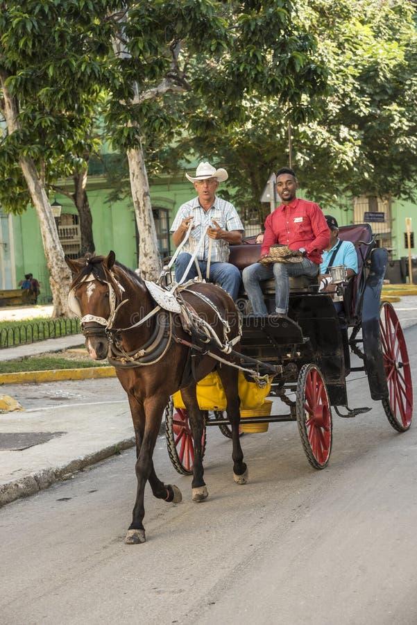 Horse carriage ride Havana stock photos