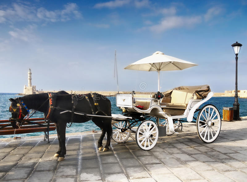 Horse Carriage Ride stock images