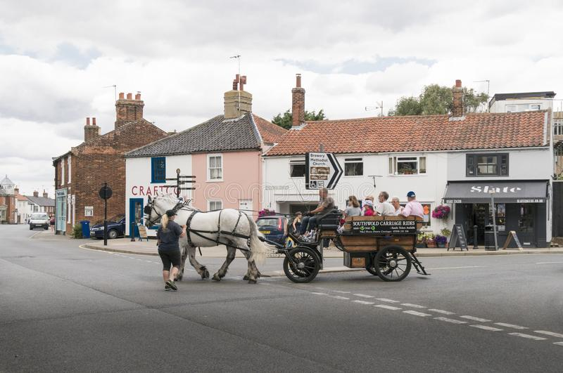Horse and Carriage in Southwold, Suffolk UK royalty free stock photography