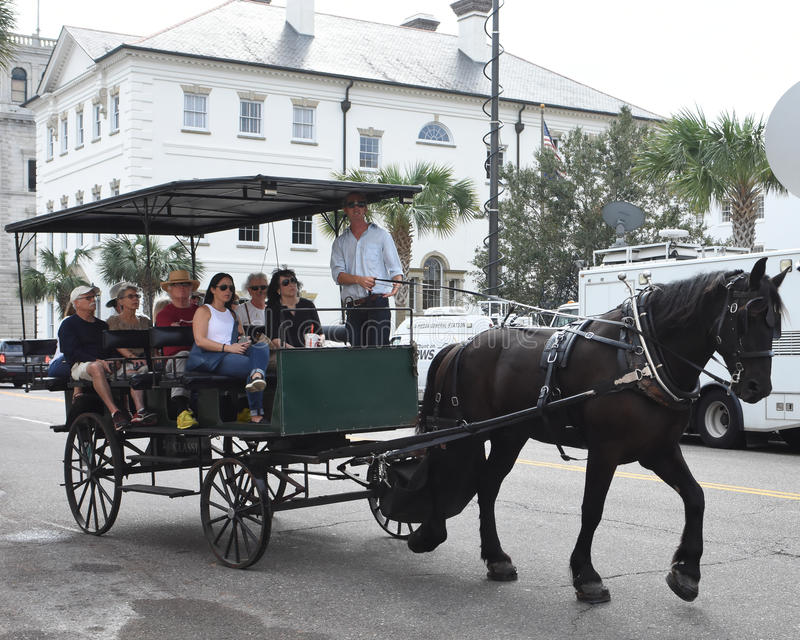 Horse and carriage tour around Charleston, South Carolina. royalty free stock photos