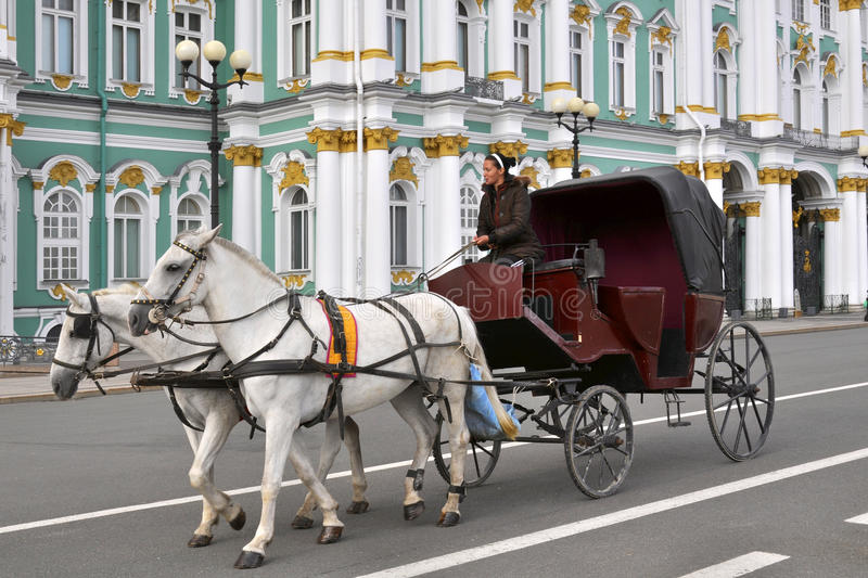 Download Horse Carriage, Winter Palace, St.Petersburg Editorial Photo - Image: 23646171