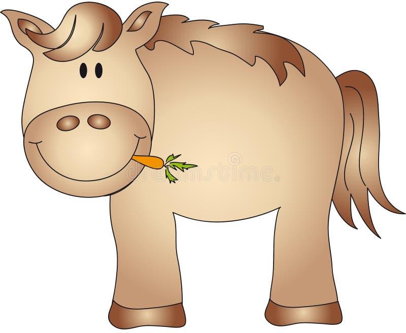 Horse cartoon stock image