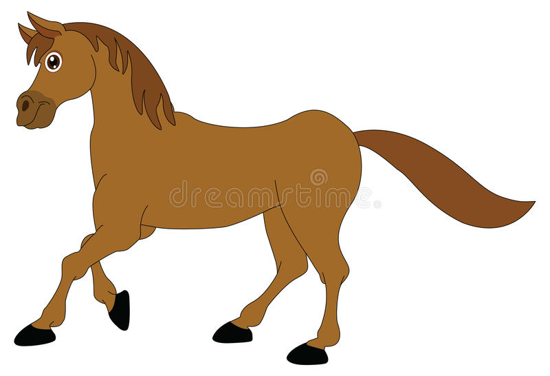 Horse. Cartoon illustrations on a white background