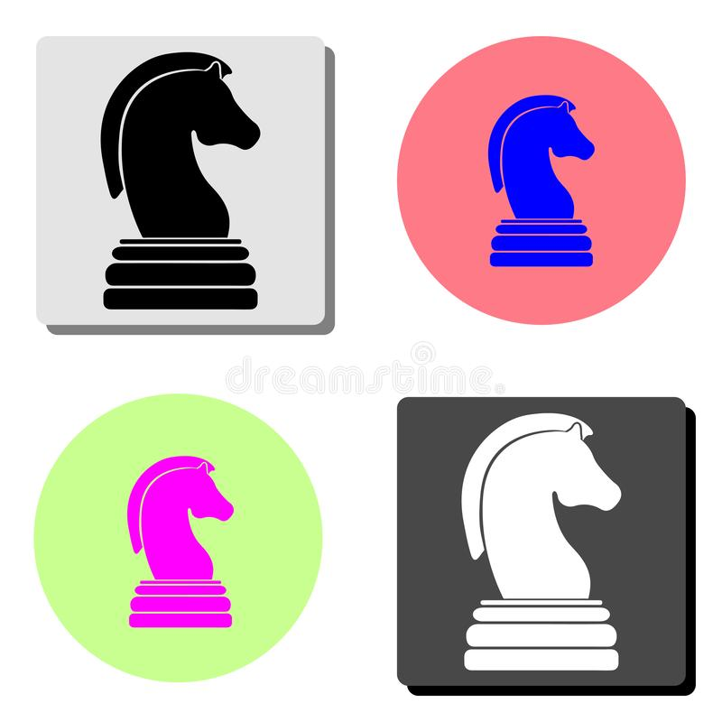 Horse chess game. flat vector icon stock illustration
