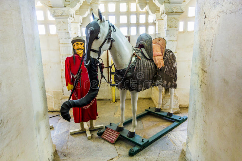 Horse Chetak in the palace stock image