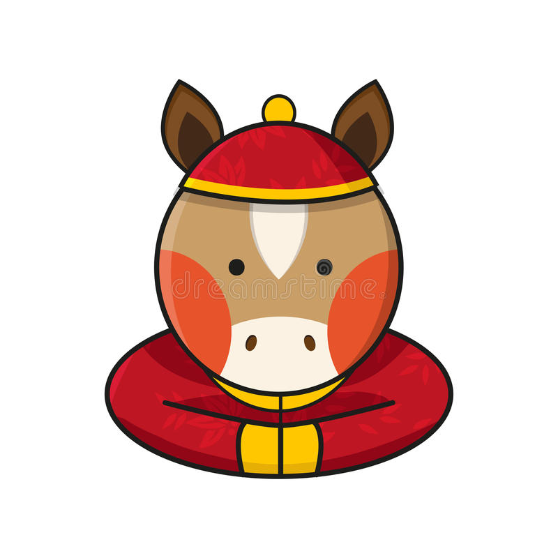 Horse Chinese Happy New Year Vector vector illustration