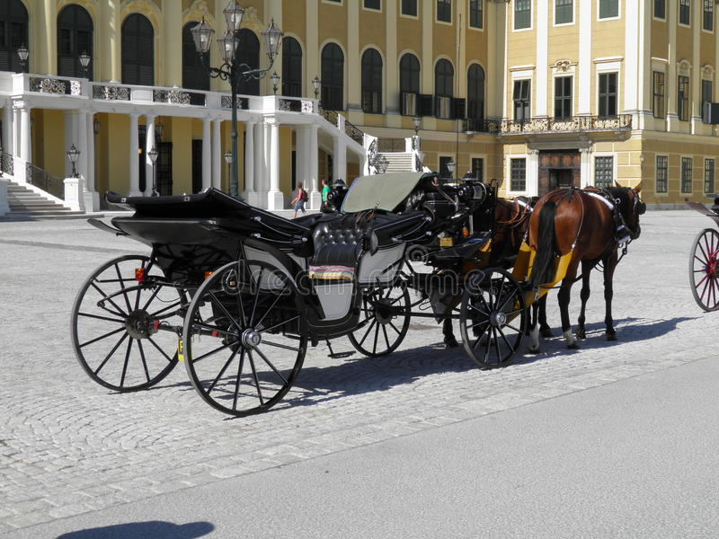 Download Horse Coach At The Schonbrunn Palace, Vienna Stock Image - Image: 25191035