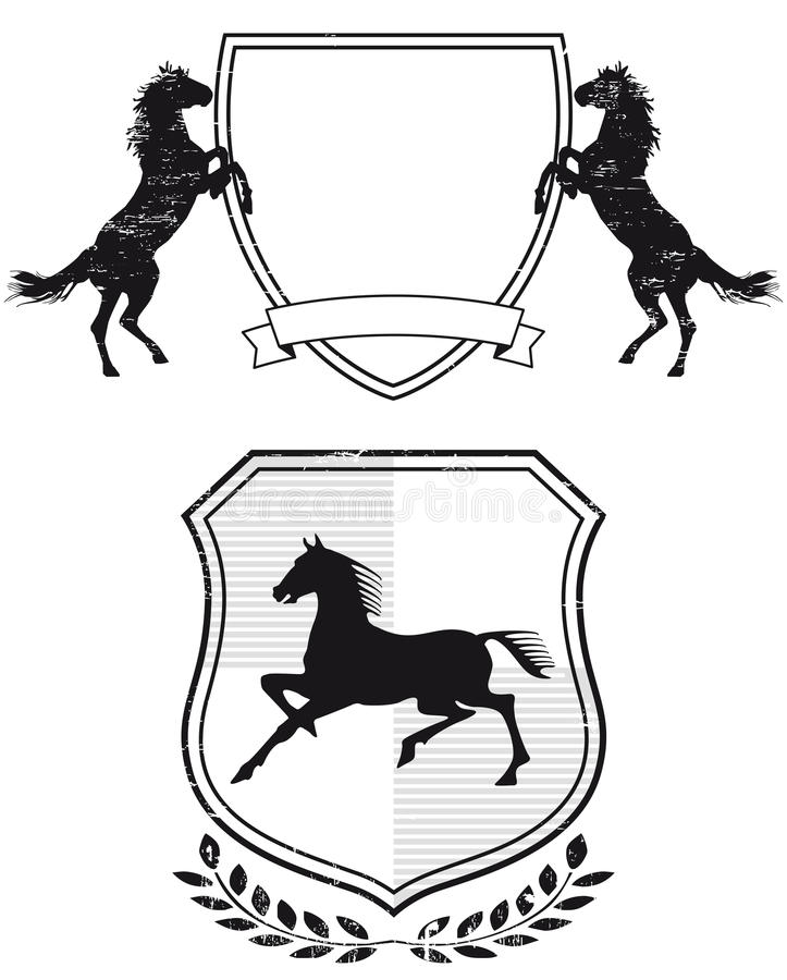 Horse coat of arms royalty free illustration