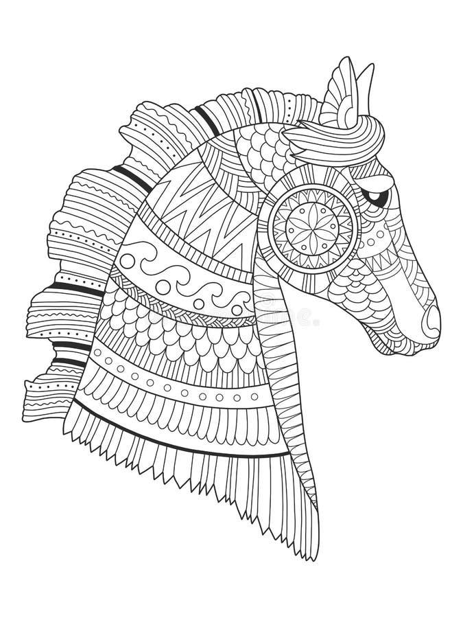 Horse coloring book vector illustration vector illustration