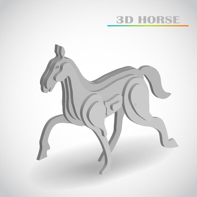 Download Horse 3d vector stock vector. Illustration of celebrate - 34236841