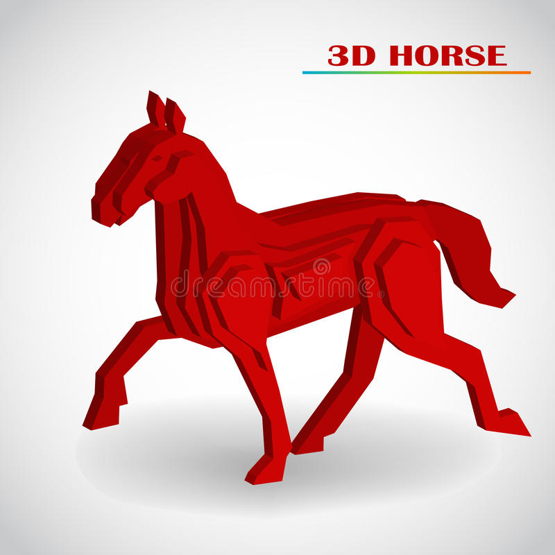 Horse 3d Vector Stock Photo