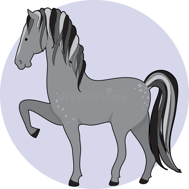 Download Horse Dapple stock vector. Image of dapple, equine, mane - 6590996