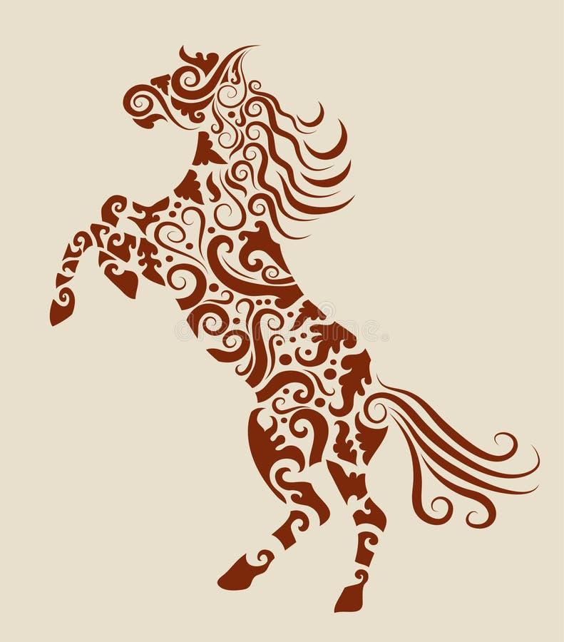 Horse decorative ornament stock illustration