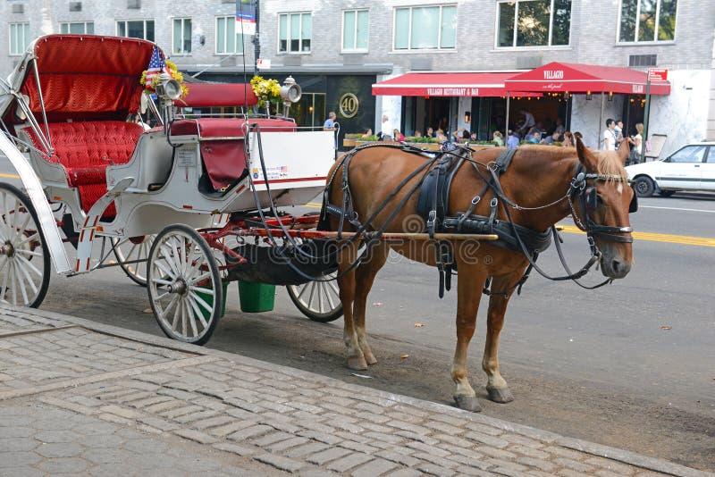 Horse-drawn μεταφορές στην πόλη της Νέας Υόρκης στοκ φωτογραφίες με δικαίωμα ελεύθερης χρήσης