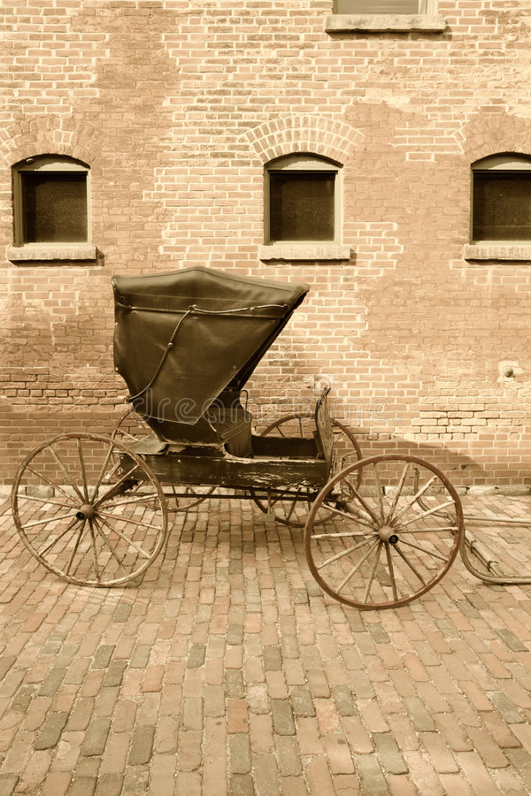 Horse-drawn carriage royalty free stock photos