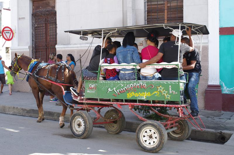 Horse-Drawn Carriages in Cuba stock photos