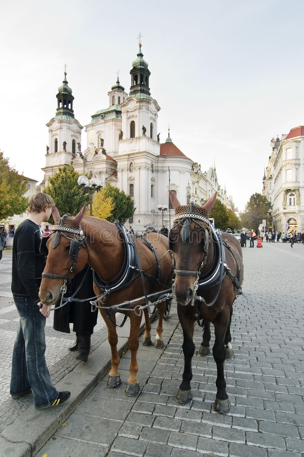 Download Horse Drawn Cart stock image. Image of building, cooperation - 685725