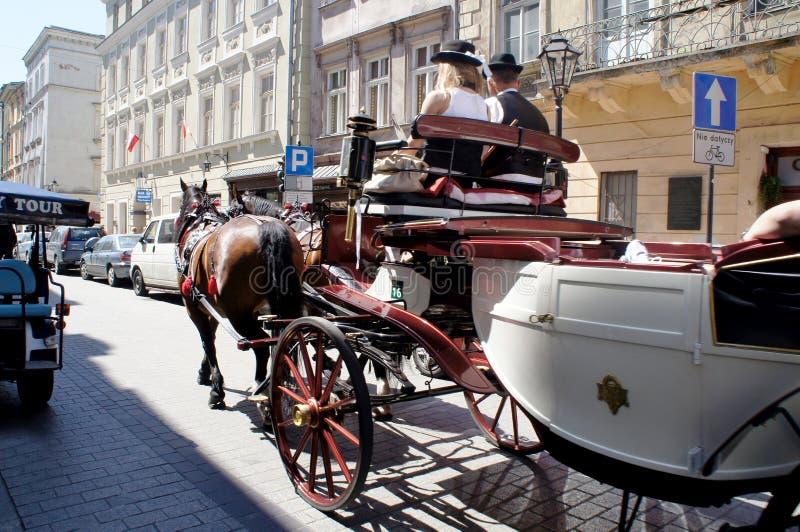 Horse-drawn vervoer stock afbeelding