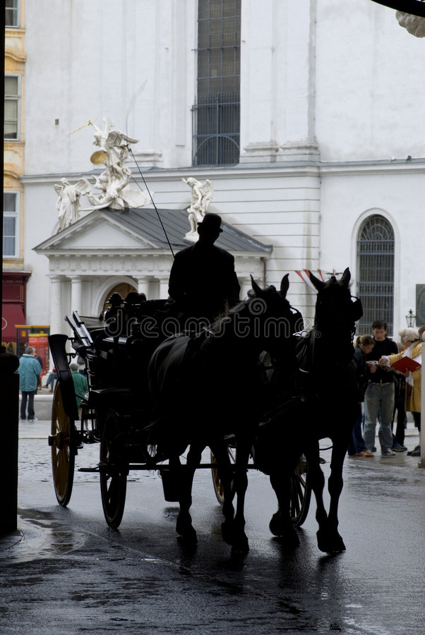 Horse-drawn vervoer stock foto's