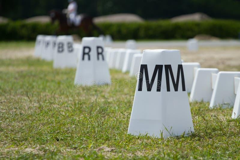 Horse Dressage Rings Stock Photo
