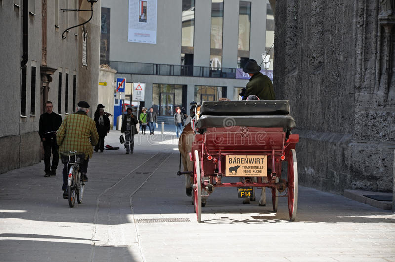Download Horse Driven Carriage With Tourists In Salzburg Editorial Photo - Image: 24188611