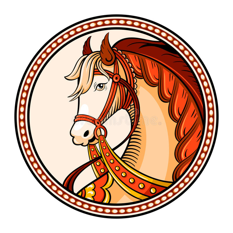 Download Horse emblem stock illustration. Image of harness, legend - 34750421
